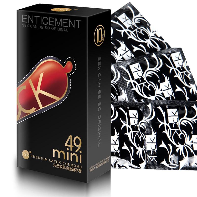 CK避孕套耐磨超薄小号49mm 安全套10片装夫妻情趣成人用品