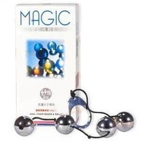 积之美 金属分子拉珠链珠后庭拉珠钢珠刺激夫妻情趣成人性用品