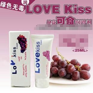 love kiss葡萄味润滑油 可食用的润滑液 ****润滑剂 25ML