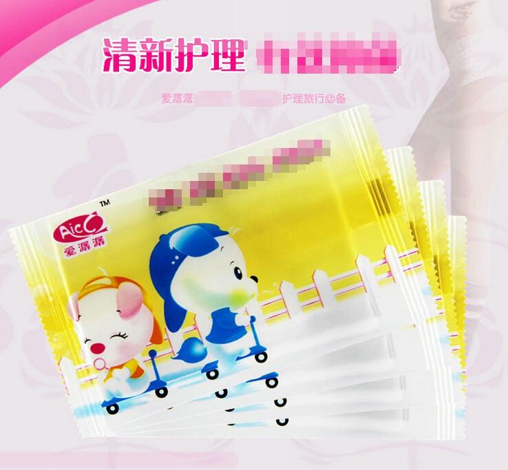 爱潺潺 护理湿巾 洁肤**柔湿巾 清爽洁净卫生湿巾 单片装