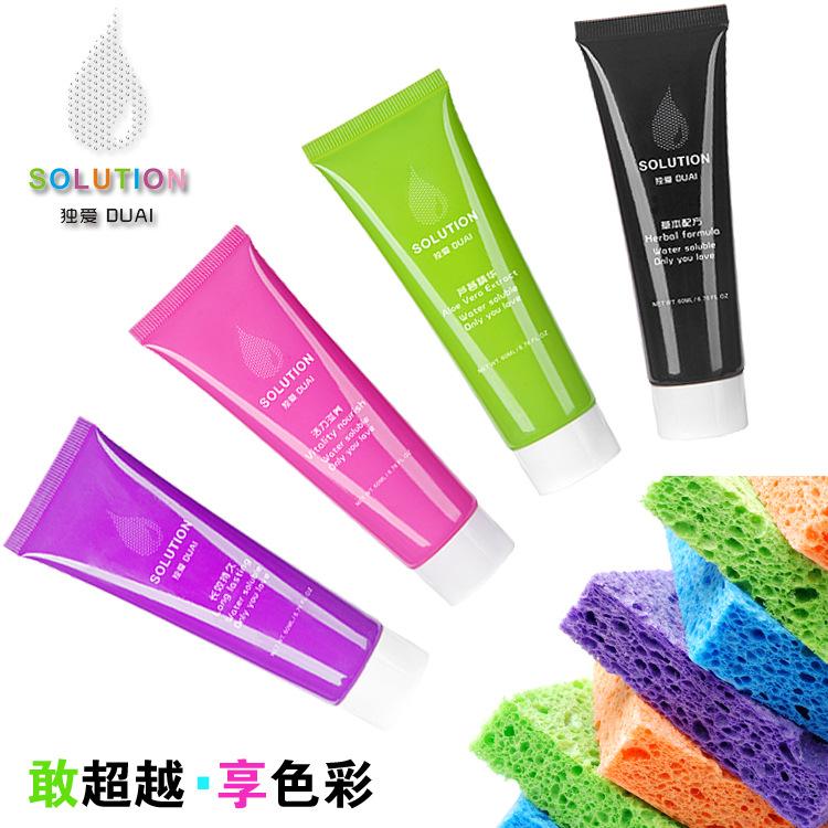 独爱彩色水溶性润滑剂****人体润滑油情趣用品润滑液60ml1