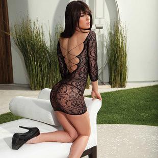 HOT-90257甜心宝贝洋装款蕾丝网衣吊带情趣内衣批发