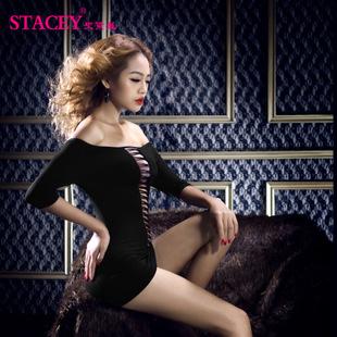 史黛丝 黑色衣服性感情趣内衣(不含T裤)11087
