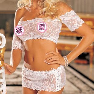 情趣内衣性感诱惑HOT系列暗夜之音 性感蕾丝薄款两件套96142