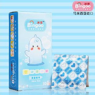 冰果亲密超薄10只装避孕套安全套计生用品成人情趣套套批发