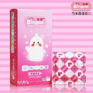 冰果可爱浮点12只装 避孕套安全套狼牙颗粒情趣套套批发