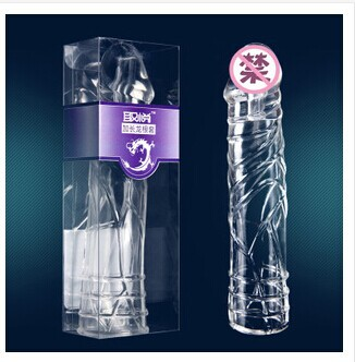取悦神龙套水晶刺套 加长龙根套 震动加大加粗外用避孕套情趣用品1